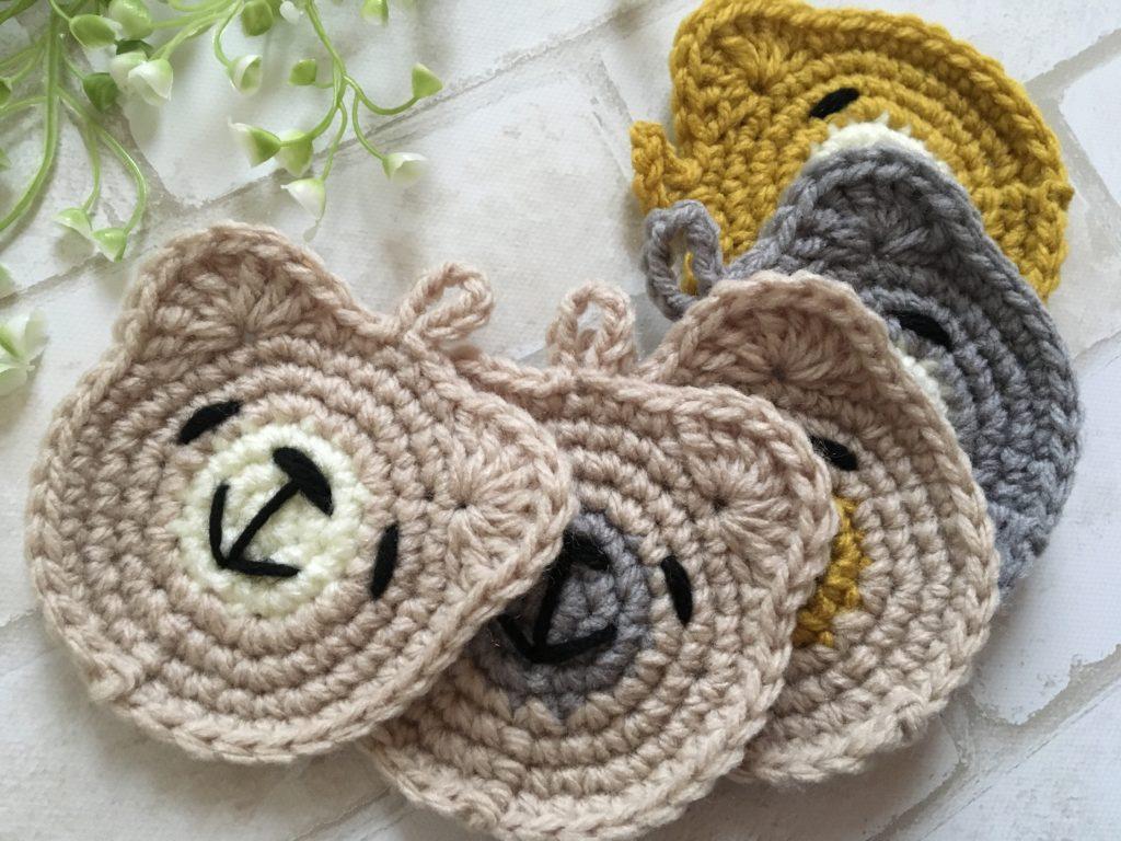 【可愛い】アクリルたわし くまさんの編み方【ナチュラルカラー】