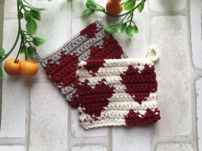 ハートの編み込み