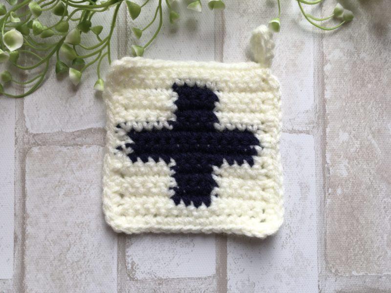 クロスの編み込み