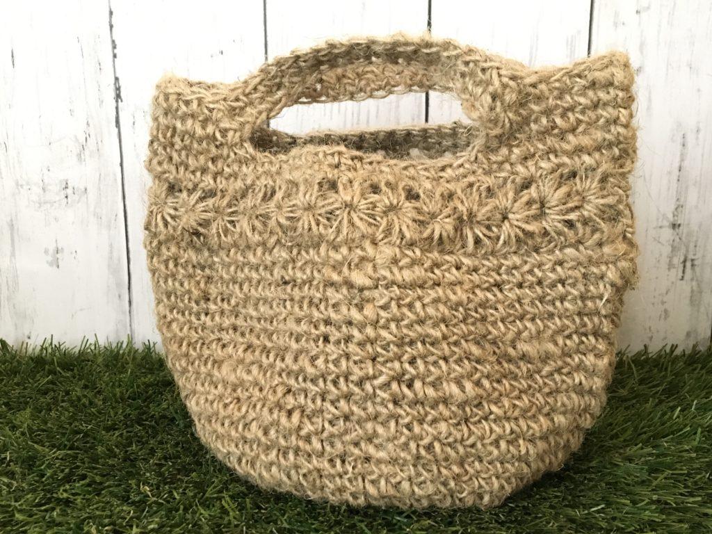 麻ひもバッグをダイソーの麻ひもで編んでみた(失敗談)