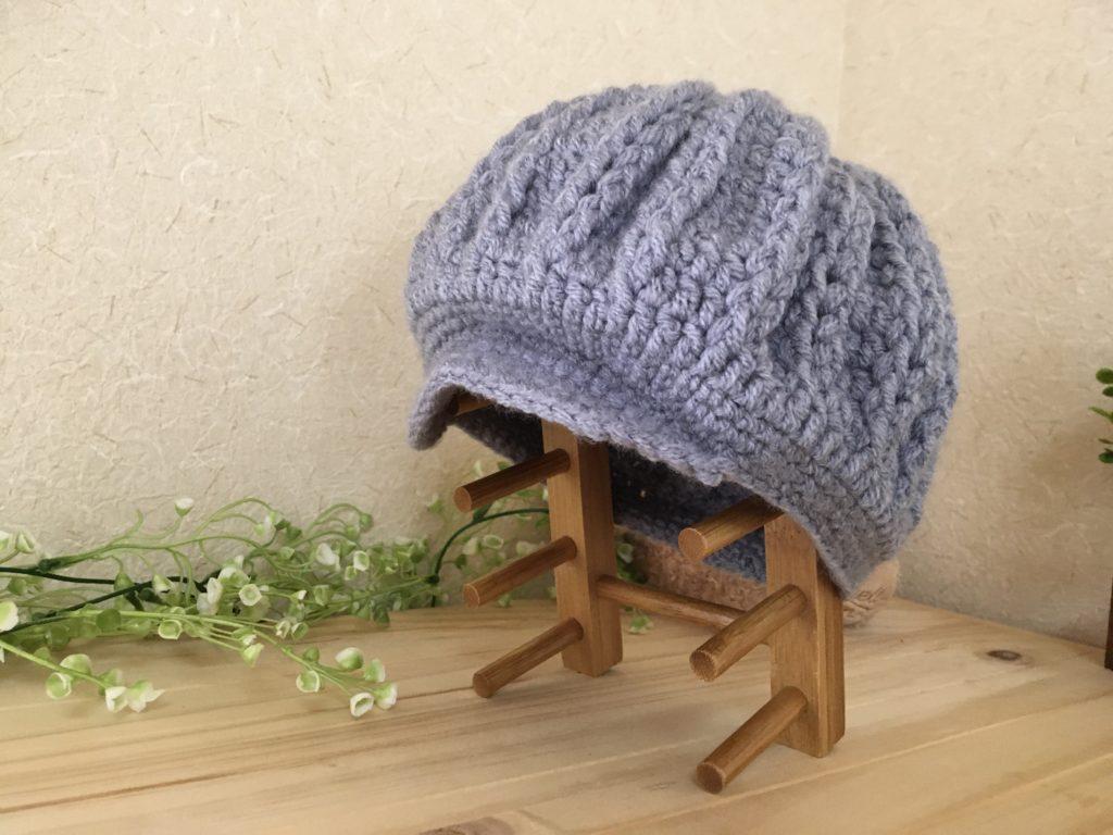 【3〜4歳】キャスケットニット帽の編み方