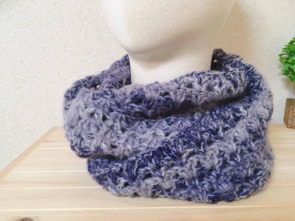100均毛糸を使ったスヌードの編み方5選【かぎ針】