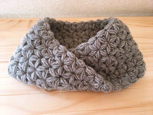 スヌードのリフ編み【メビウス編み】