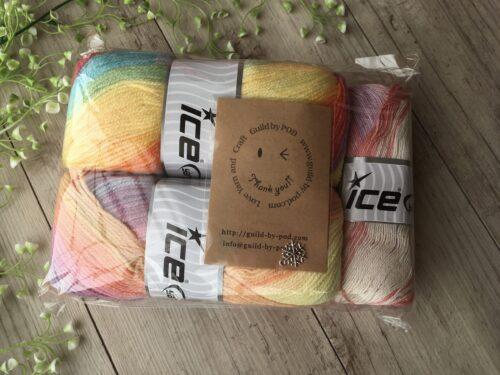 アイスヤーンの毛糸