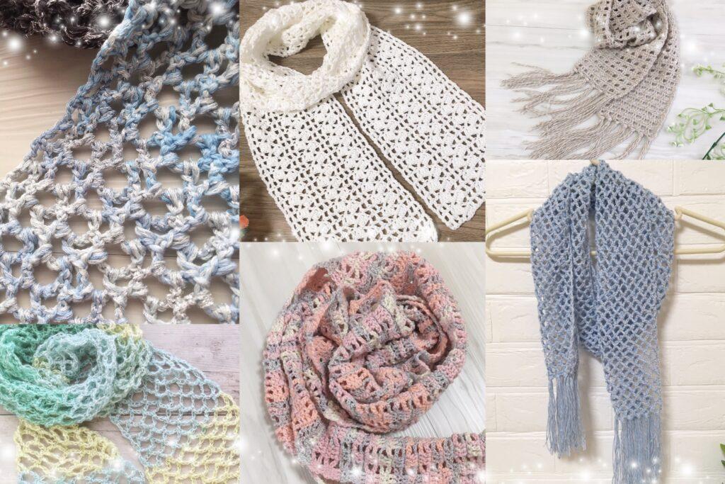 [かぎ針編み]ストールの編み方13選♪(編み図あり)