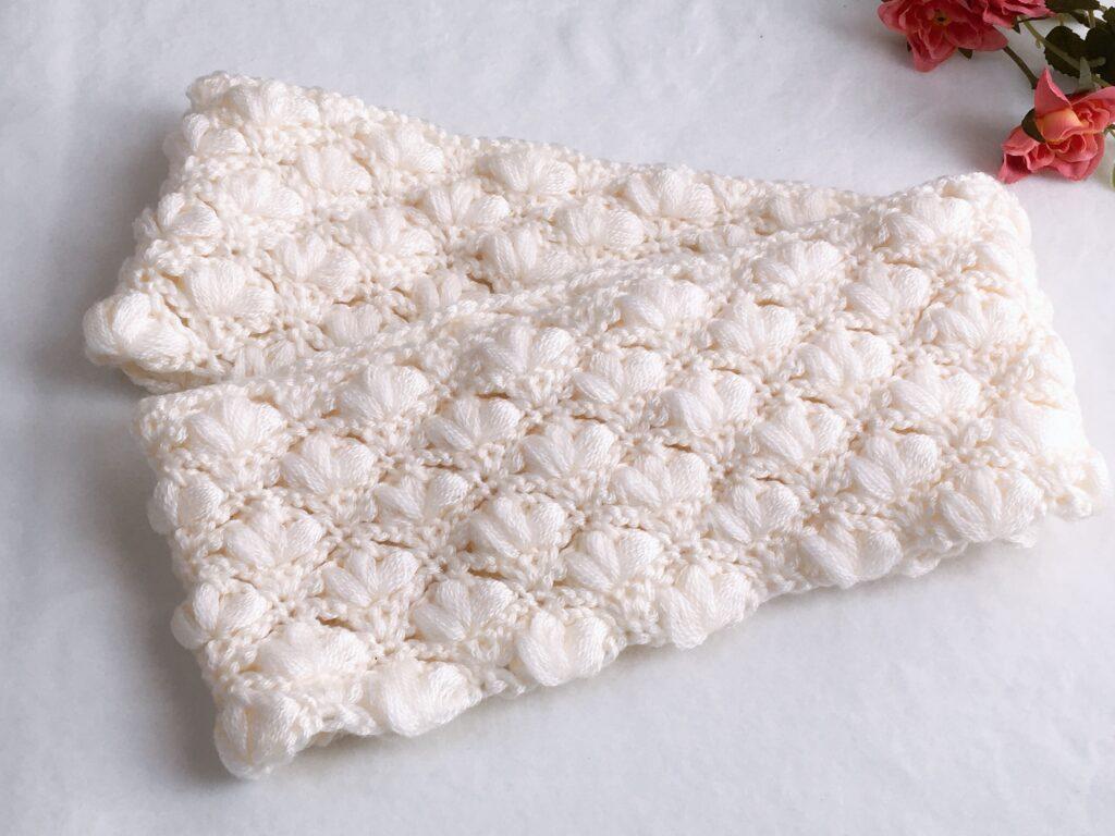 玉編み模様のスヌードの編み方 可愛いくて肌触りも良い♪