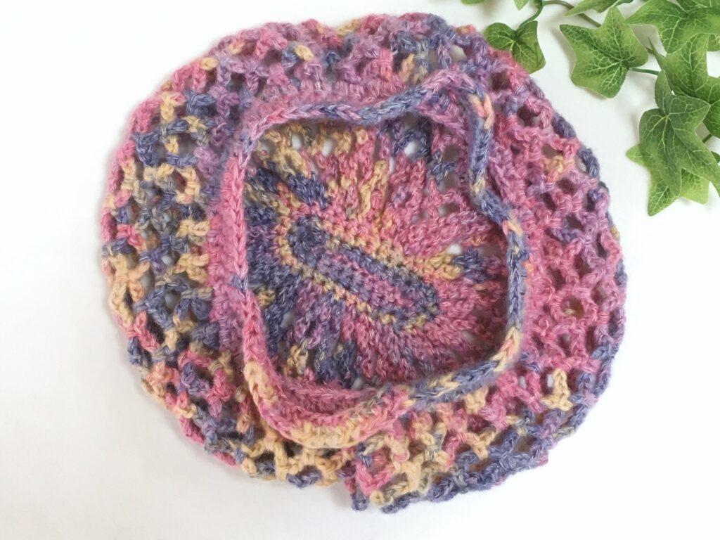 かぎ針編みで簡単に編めるネット編みバッグ