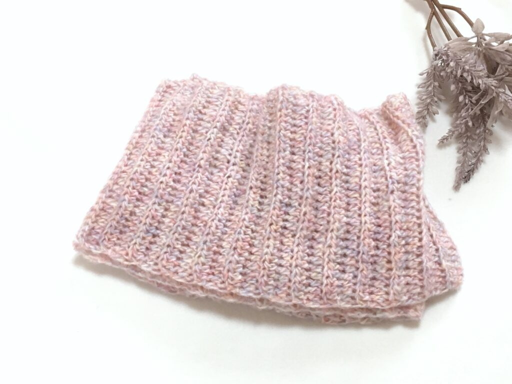 かぎ針編み初心者さんも簡単に編めるスヌード