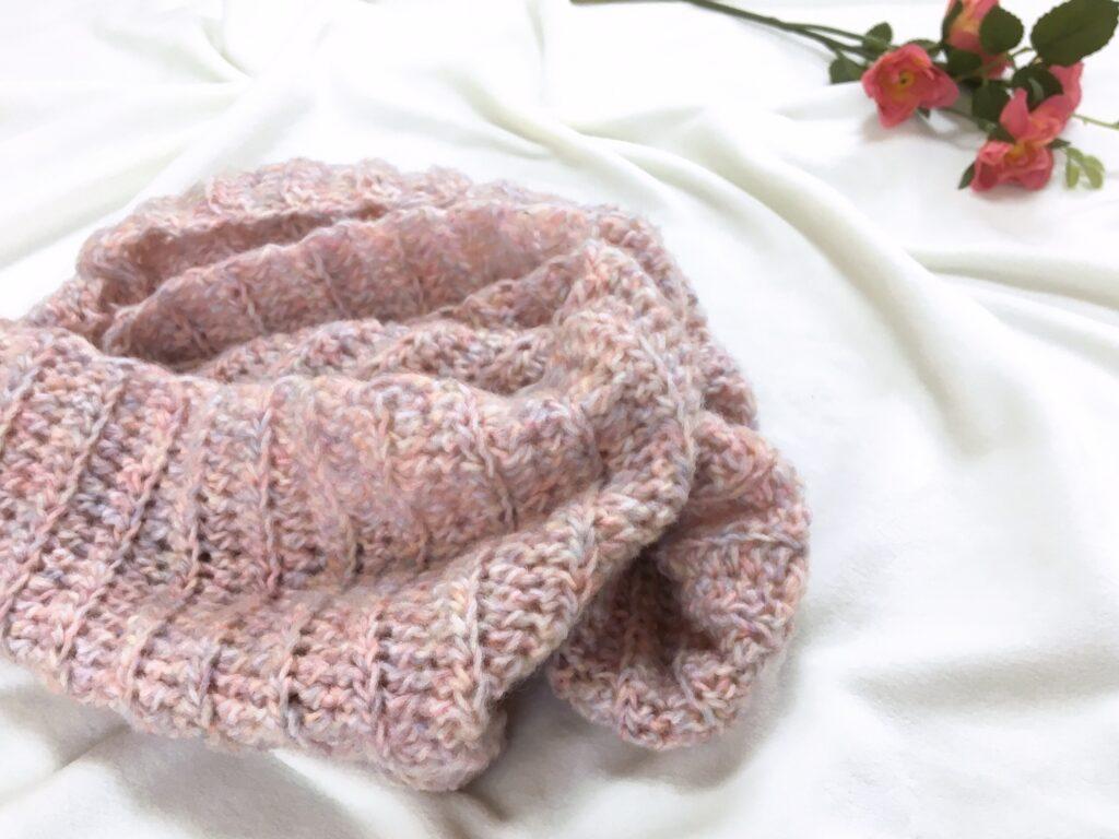 かぎ針編み初心者さんも簡単に編めるふんわりスヌード♡