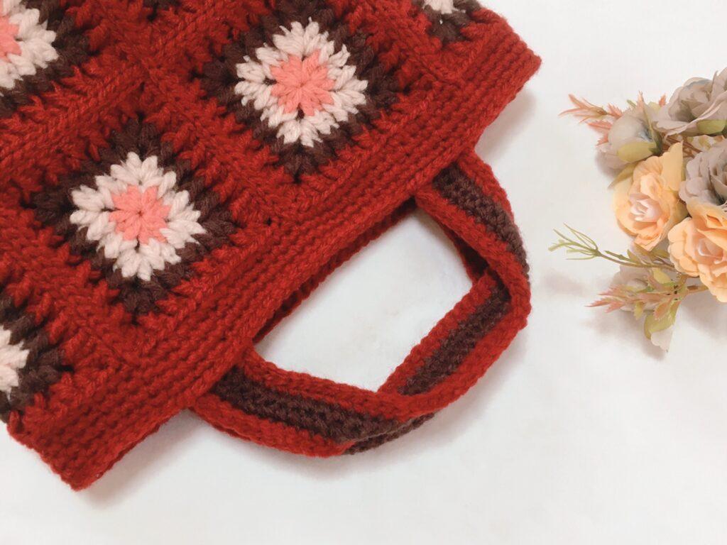 モチーフ編みバッグ