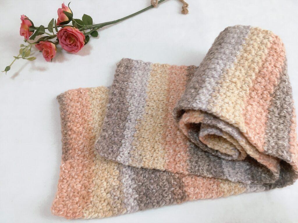 これだけで編める♪かぎ針マフラーの簡単な編み方