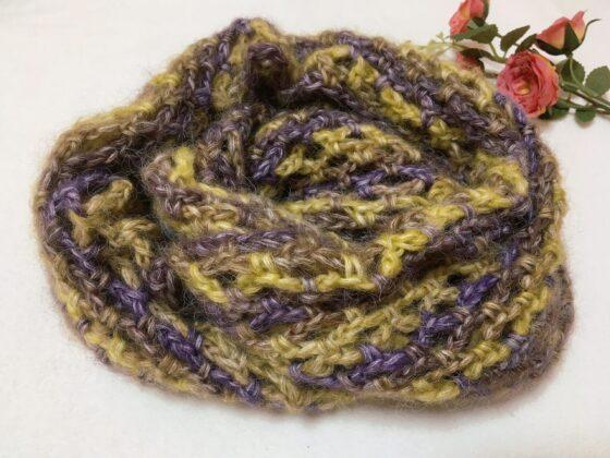 簡単なネット編みスヌードの編み方♪