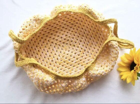 黄色のグラニーバッグ